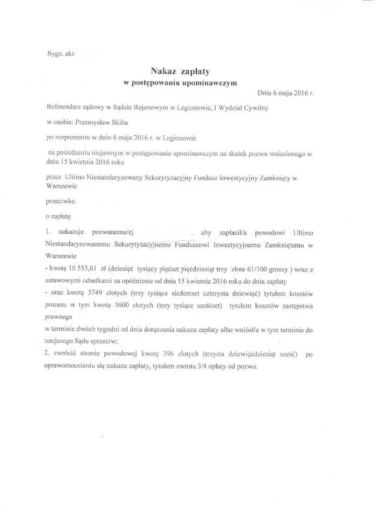 Nakaz zapłaty w elektronicznym postępowaniu upoiminawczym